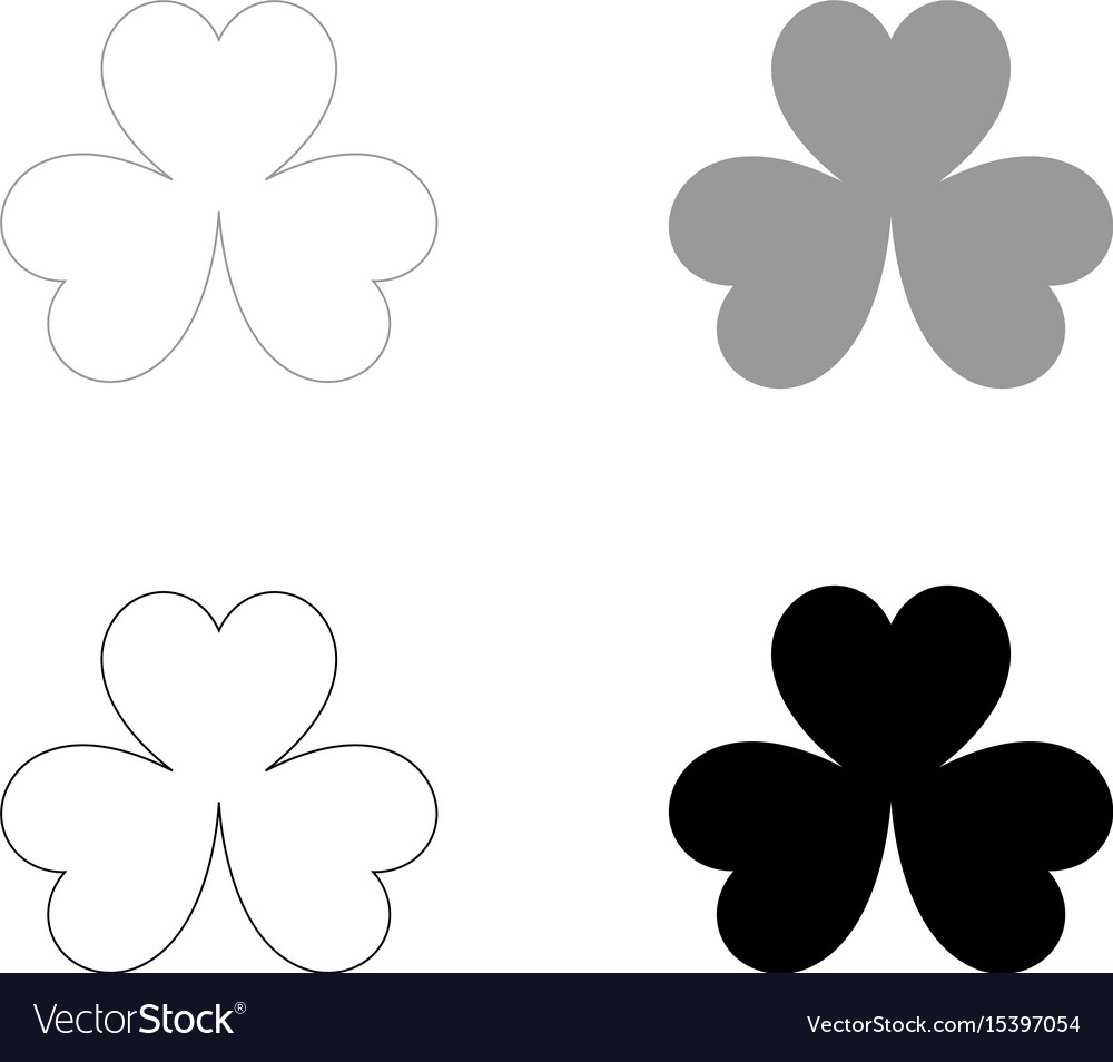 Clover the black and grey color set icon
