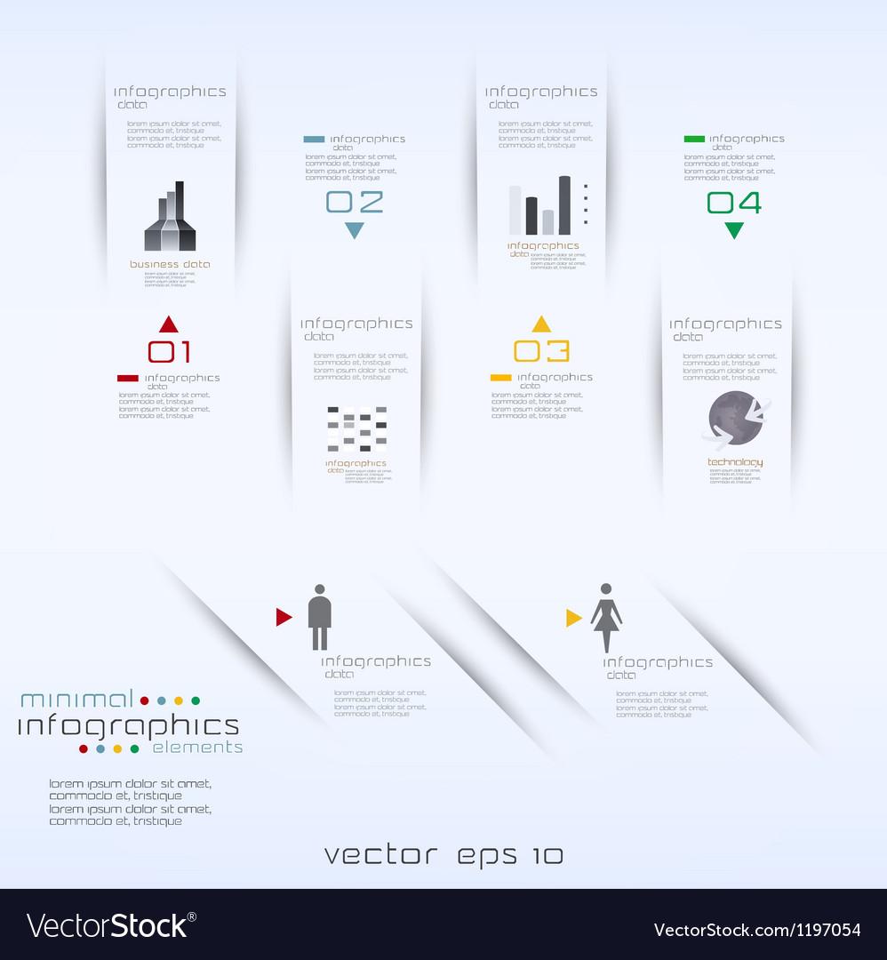 Infographics retro minimal