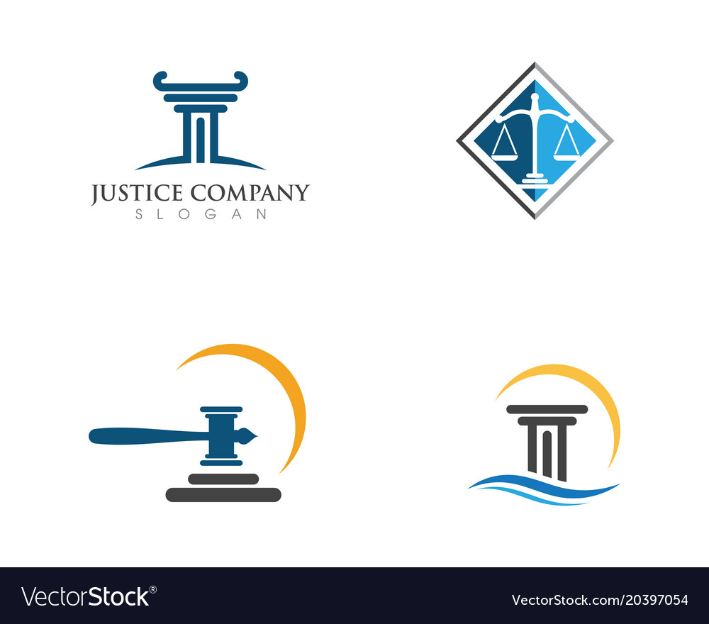 Justice law logo template
