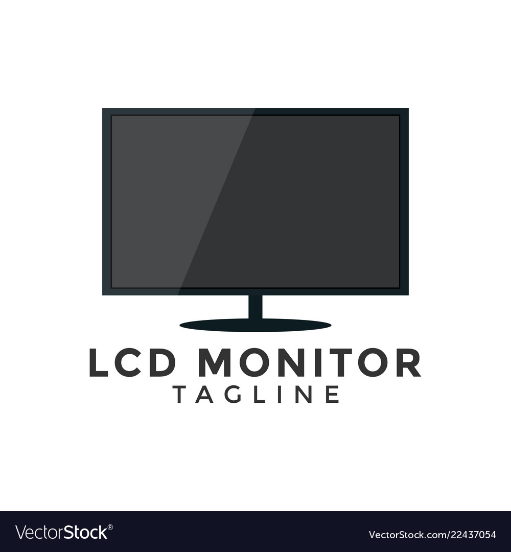 Lcd monitor graphic design element template