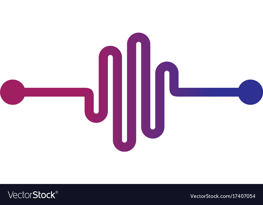 Music beat abstract equalizer sign logo vector image