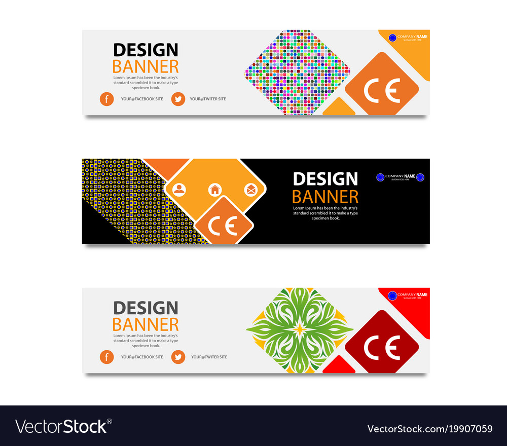 banners of different types royalty free vector image