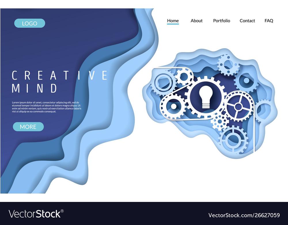 Creative mind website landing page design