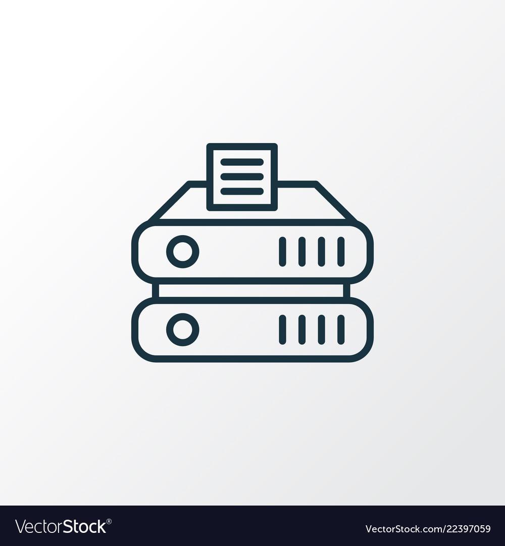 Data storage icon line symbol premium quality