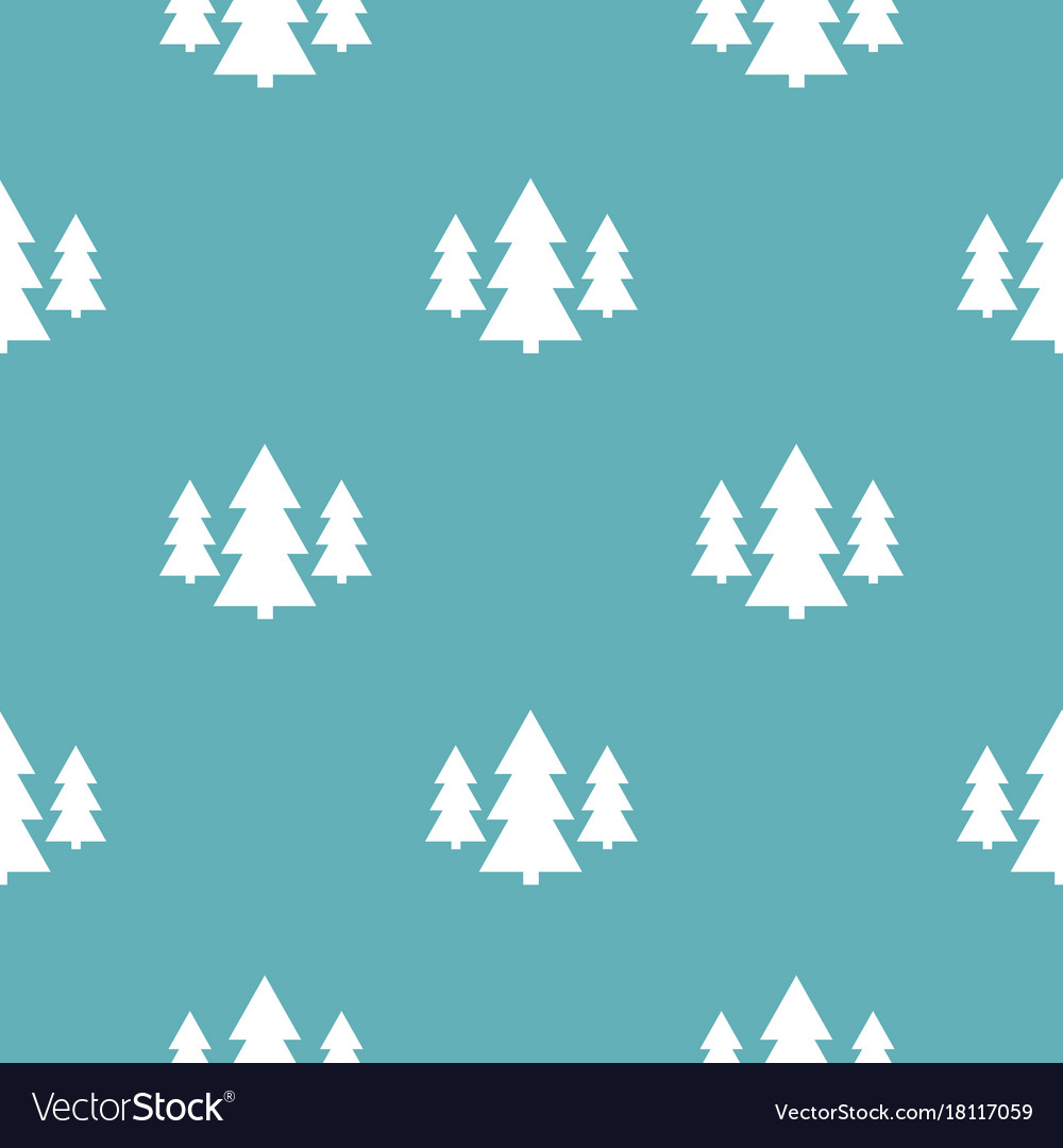 Forest pattern seamless blue vector image