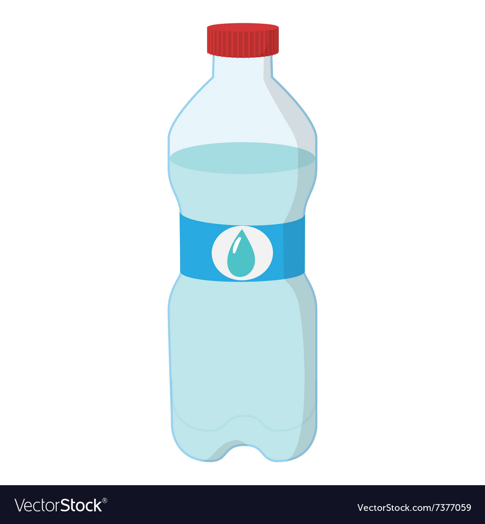 plastic bottle of water cartoon icon royalty free vector