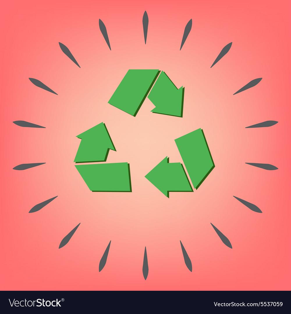 Recycle symbol Environmental icon arrow
