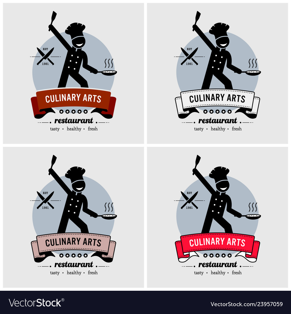 Restaurant and chef logo design artwork