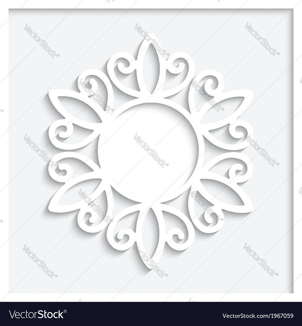Round paper frame
