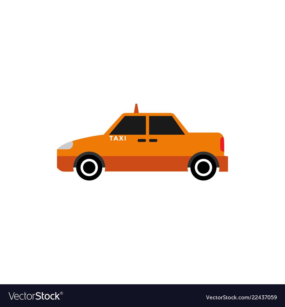 Taxi car graphic design element