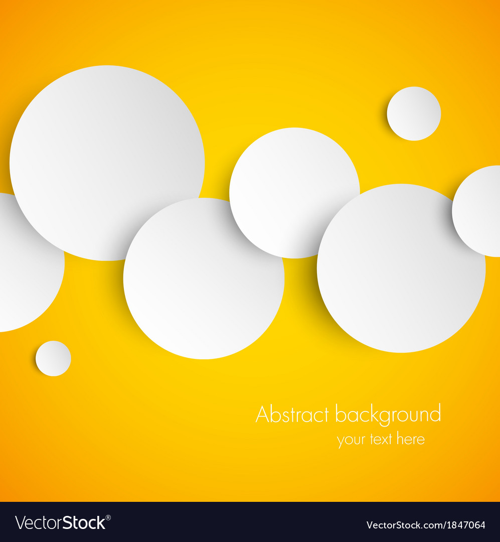 Abstract Orange Background With White Paper