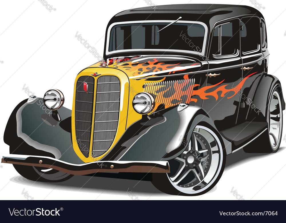 GAZ M1hotrod vector image