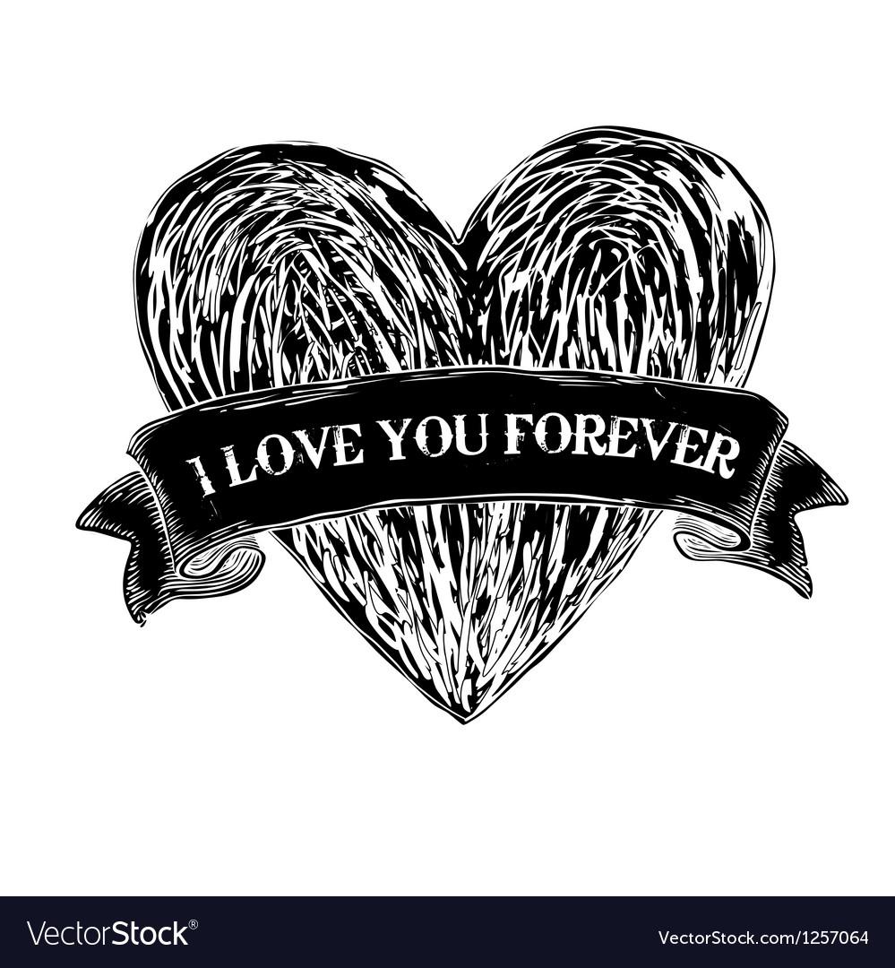Heart tattoo eps8 vector image