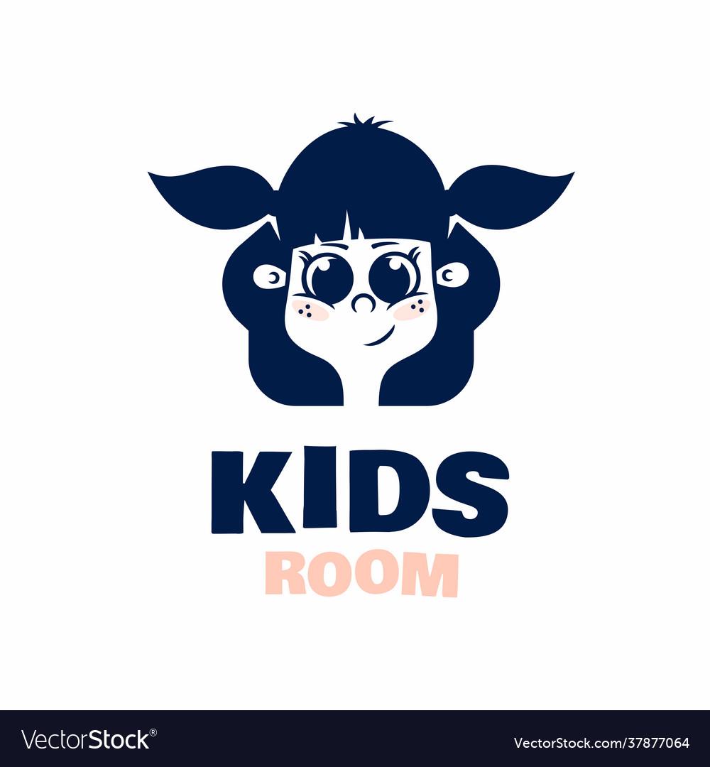 Modern professional logo kids room in blue theme