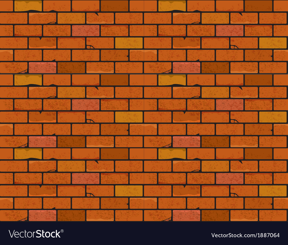 Red brick wall seamless texture