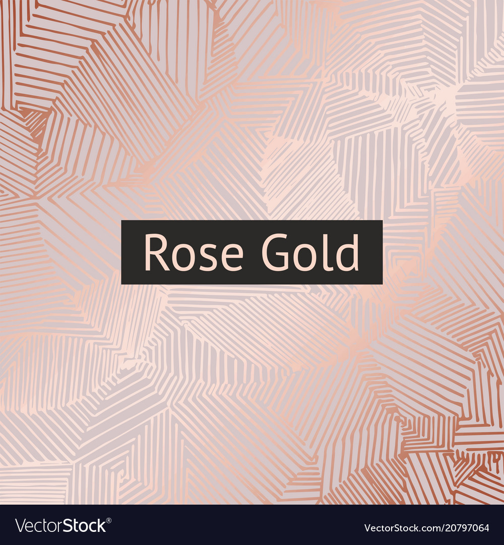 Rose gold decorative pattern for design and