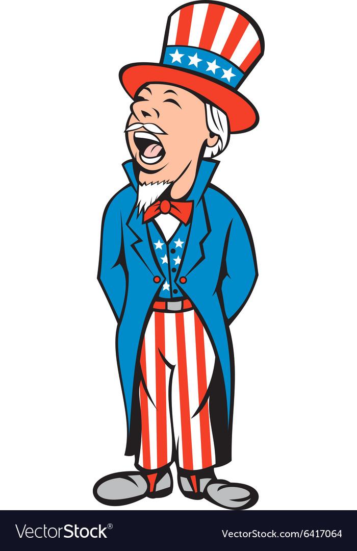 Uncle Sam American Shouting Cartoon