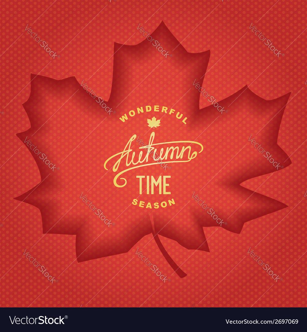 3D Autumn banner