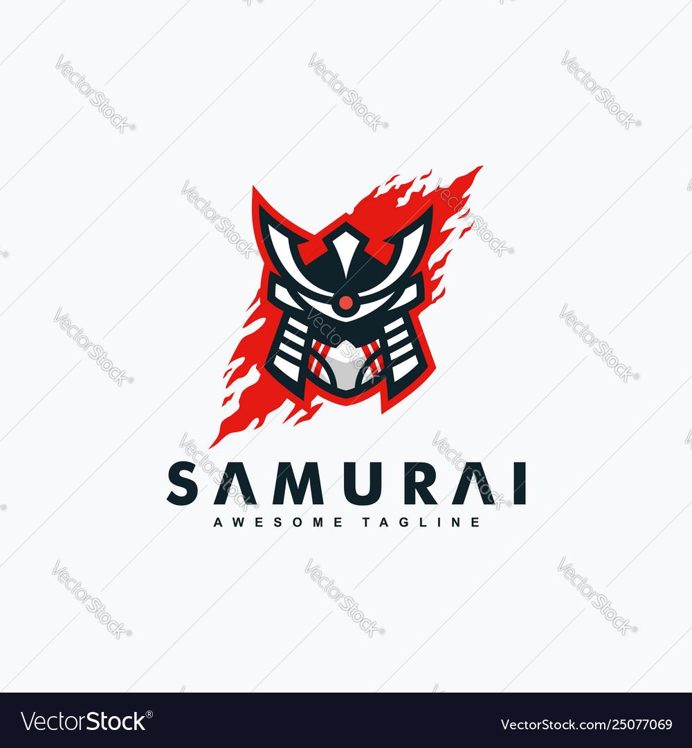 Abstract samurai concept design template