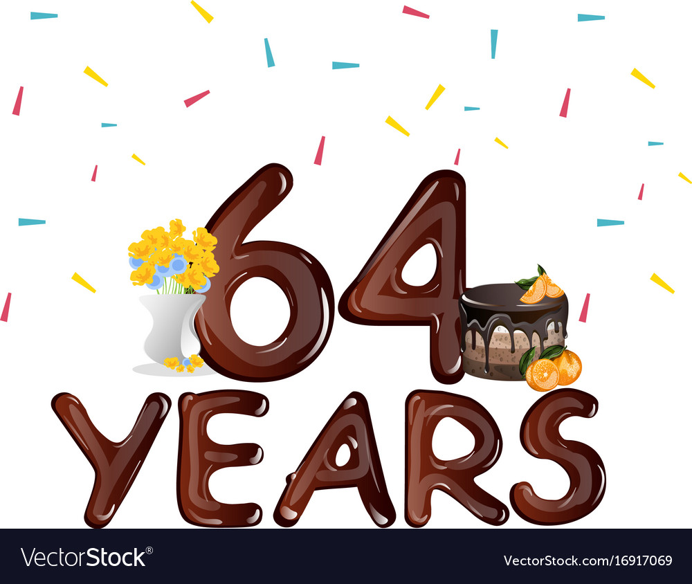 Happy birthday sixty four 64 year