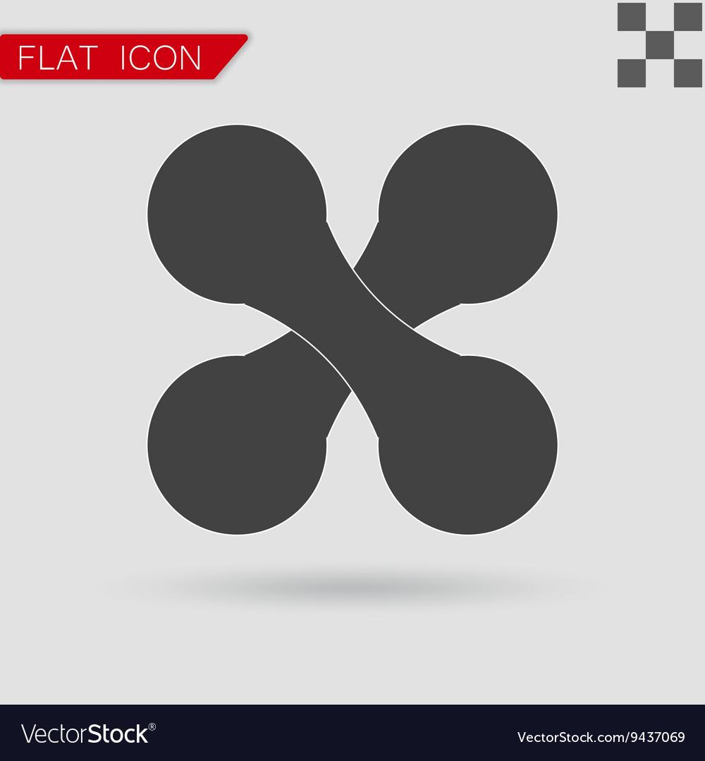 Heavy black dumbbell vector image