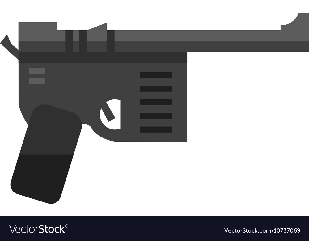 Mmilitary pistol gun vector image
