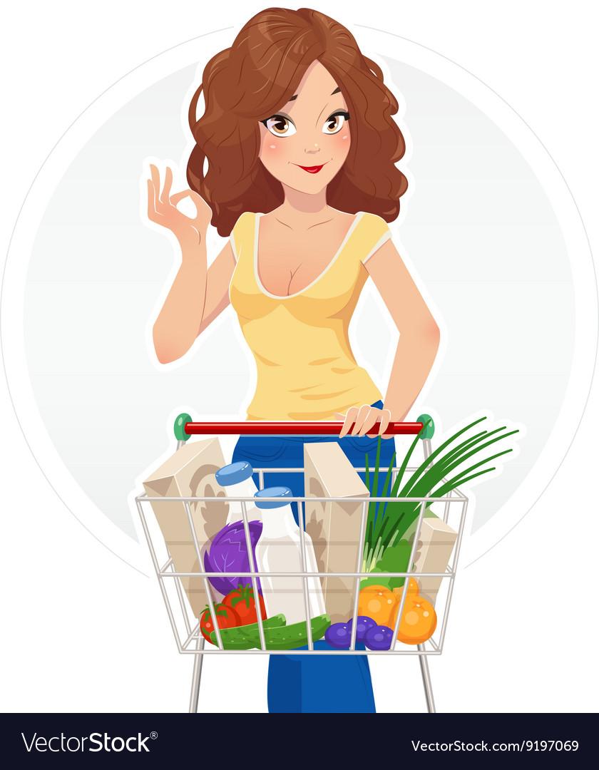 Shopping beautiful girl