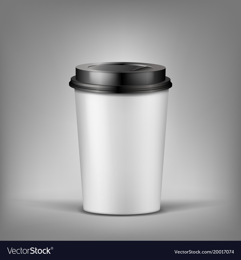 3d realistic cup of coffee with shadow