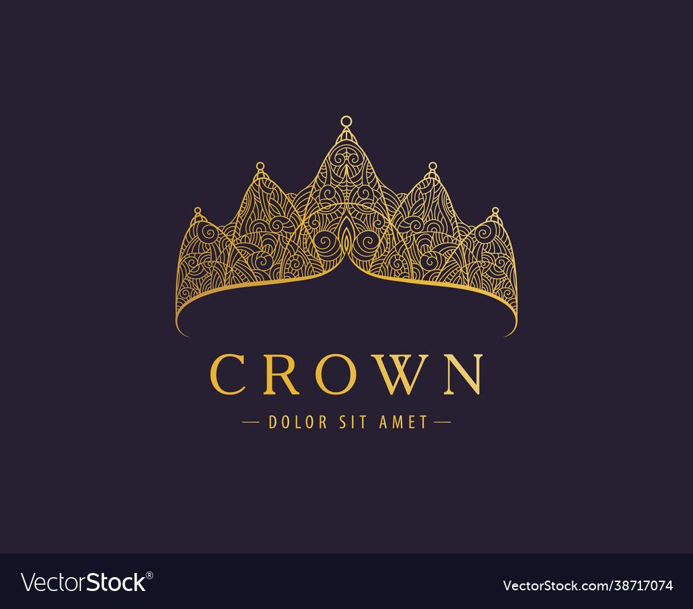 Abstract luxury royal golden company logo icon