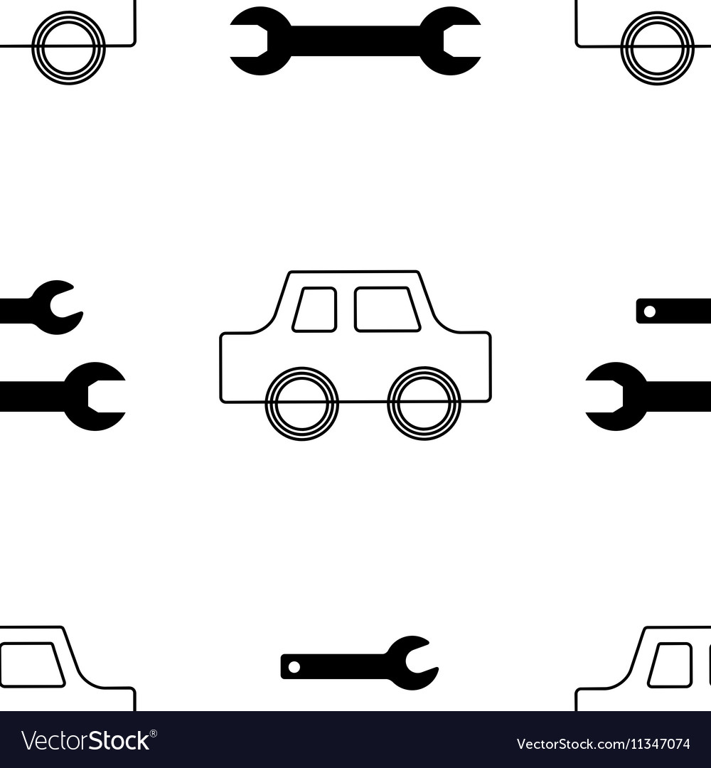 Auto service or car repair seamless pattern