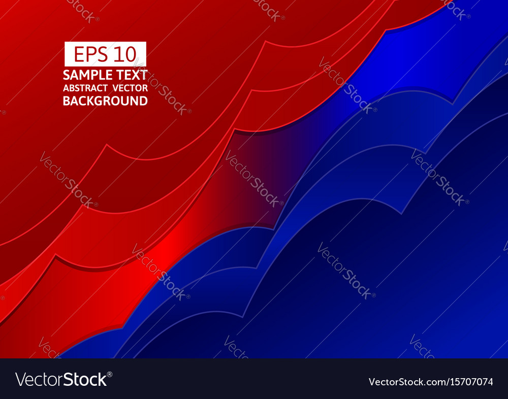 Blue And Red Abstract Wave Overlap Background