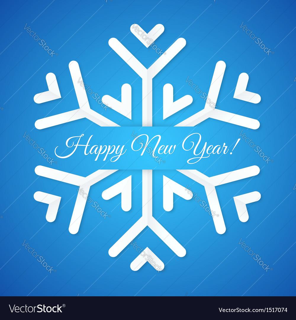 Blue Paper Snowflake Postcard