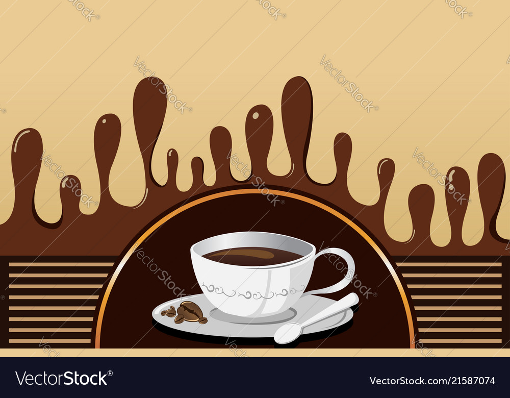 coffee mug background royalty free vector image vectorstock