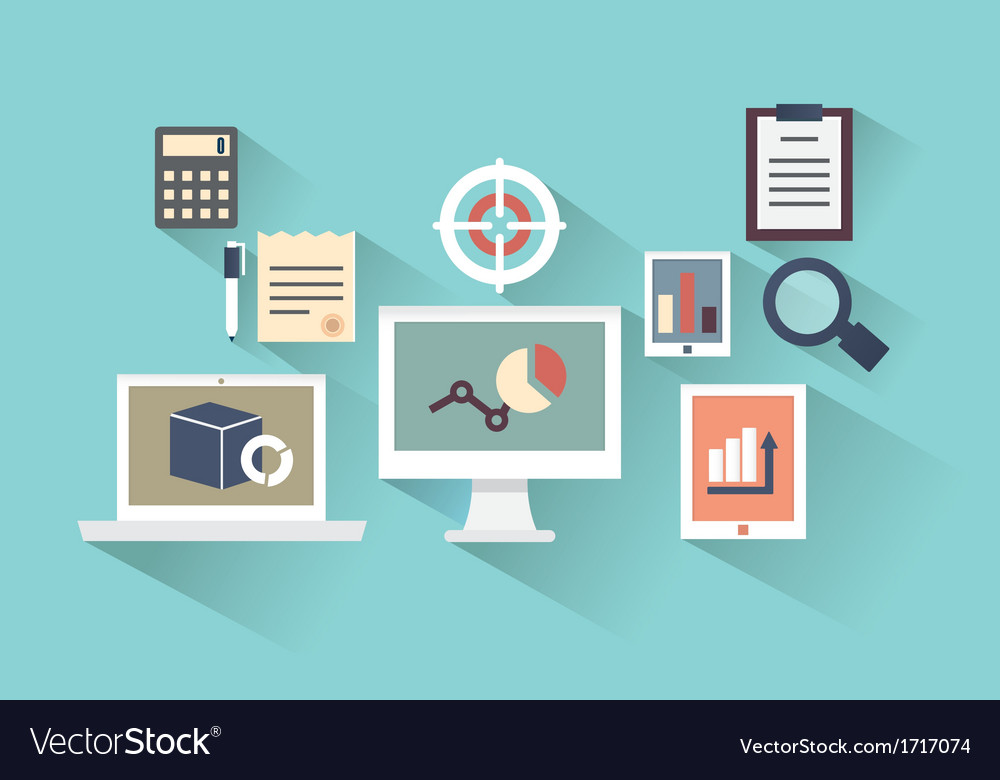 Concept of mobile devices and documents vector image