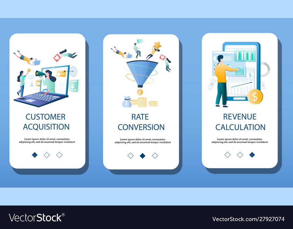 Finance management mobile app onboarding screens