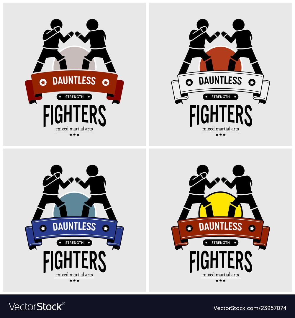 Mma mixed martial arts logo design artwork of