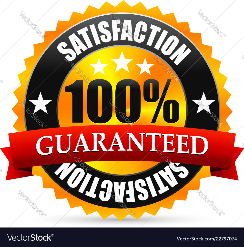 Satisfaction guarantee seal stamp or badge with