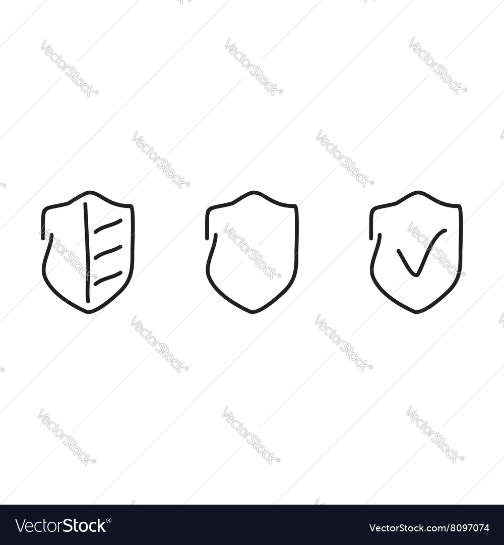 Security set icons vector image