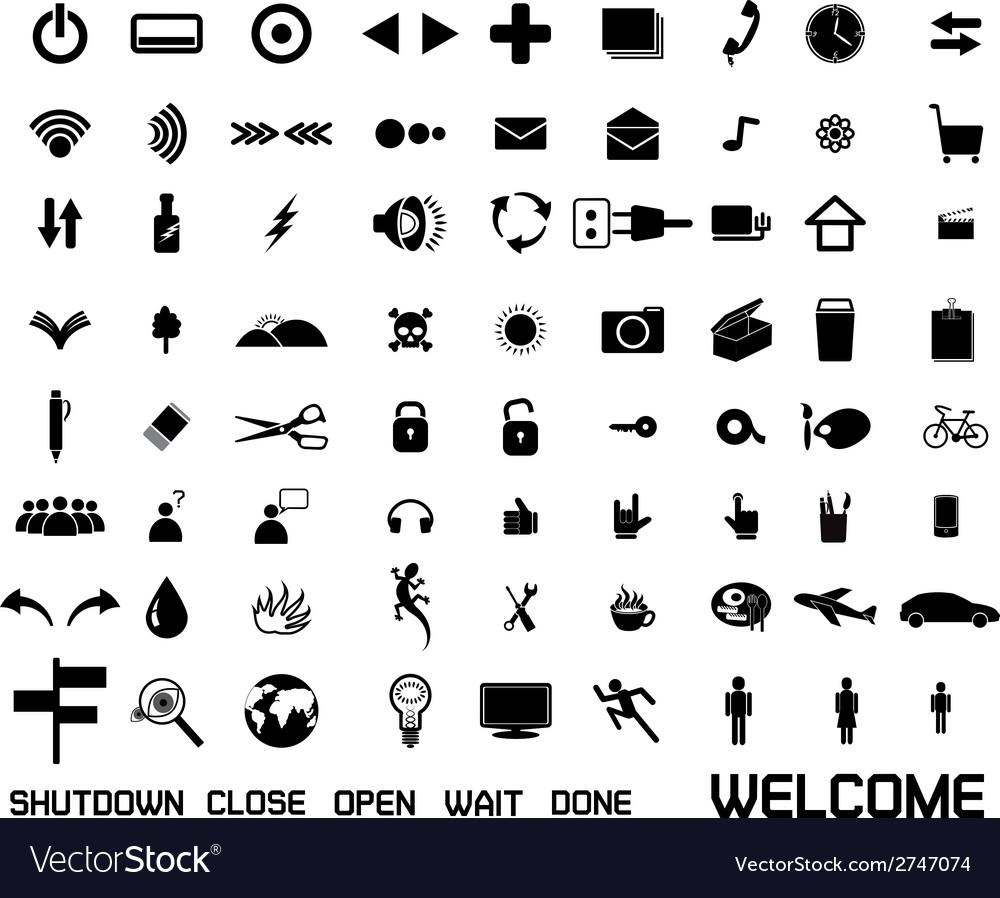 Set of web icon vector image