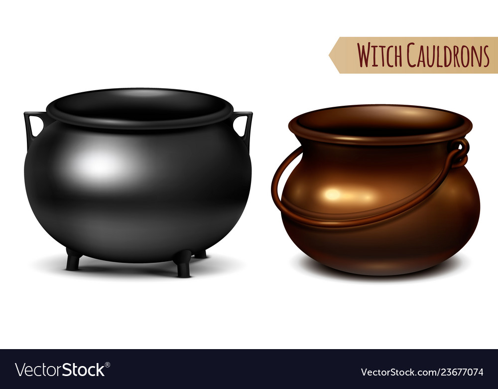 Witch cauldrons realistic