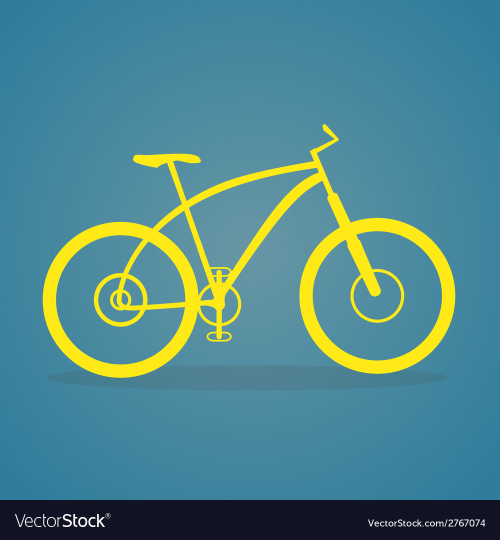 Yellow Bike Icon