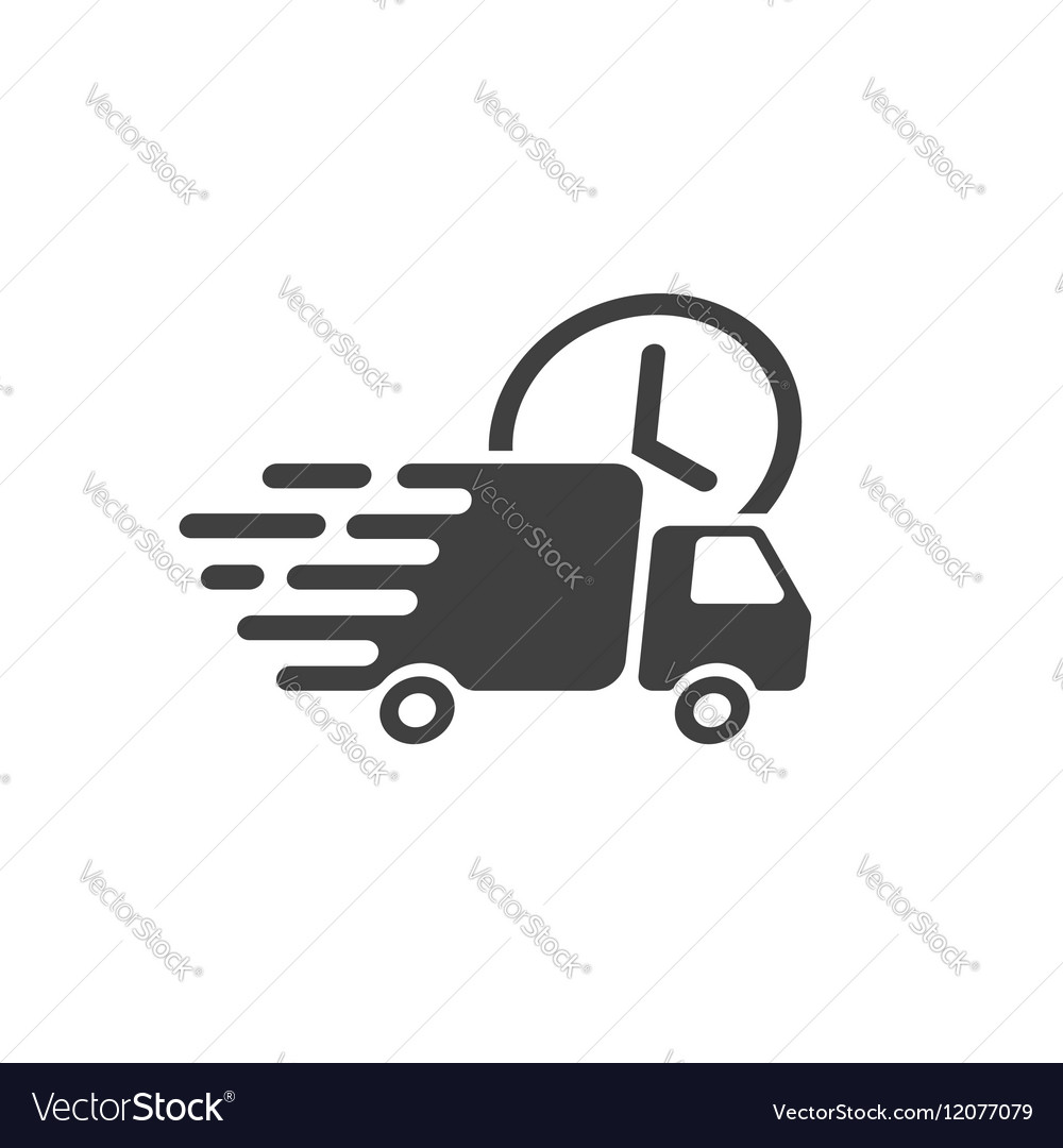 Delivery truck icon fast shipping cargo