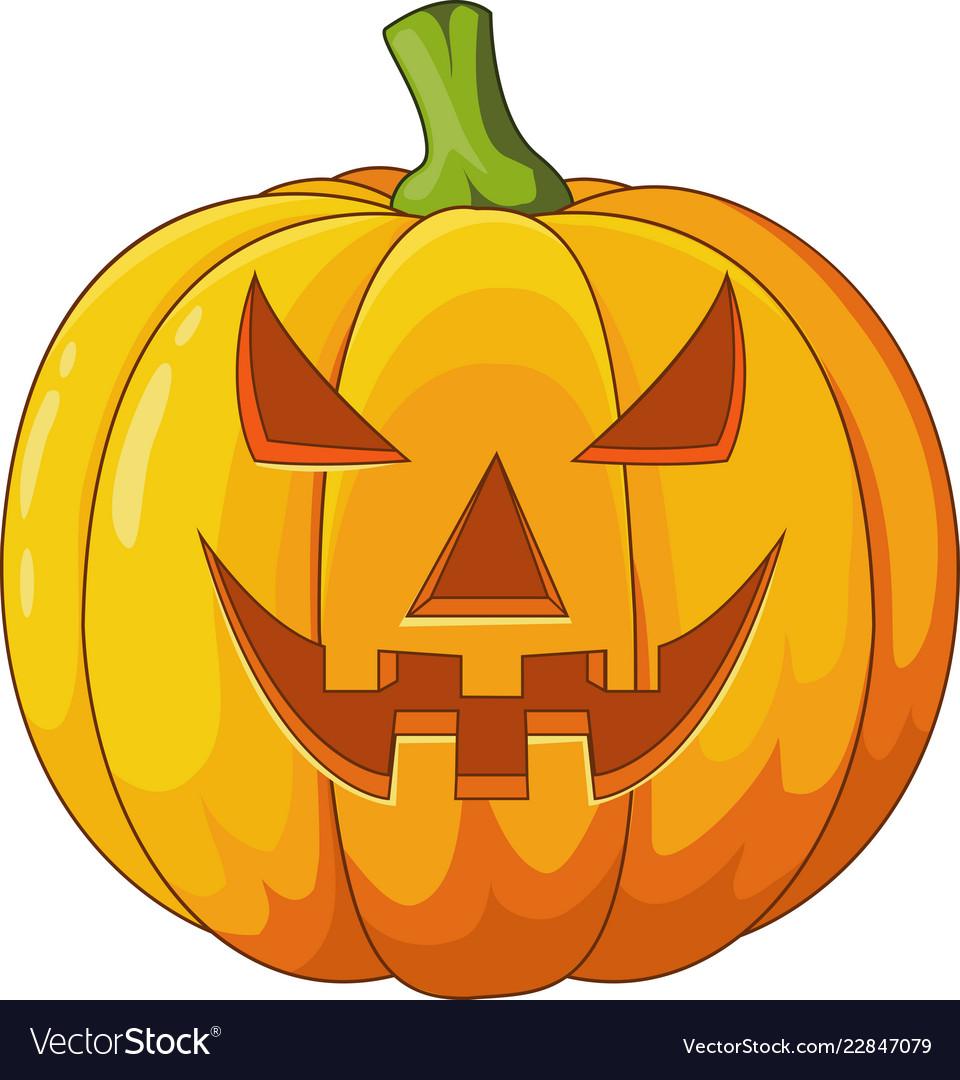 Halloween Pumpkin Vector.Scary Halloween Pumpkin