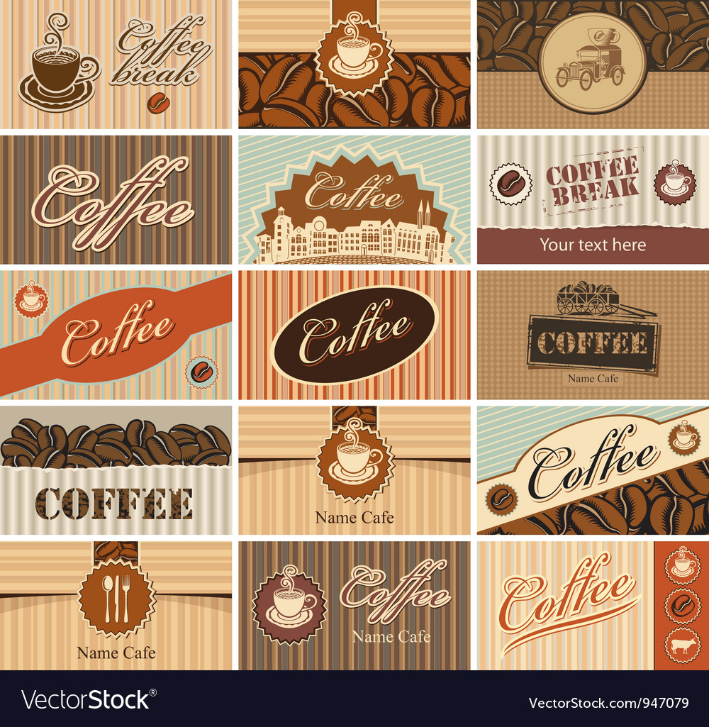 Set banner of tea and coffee