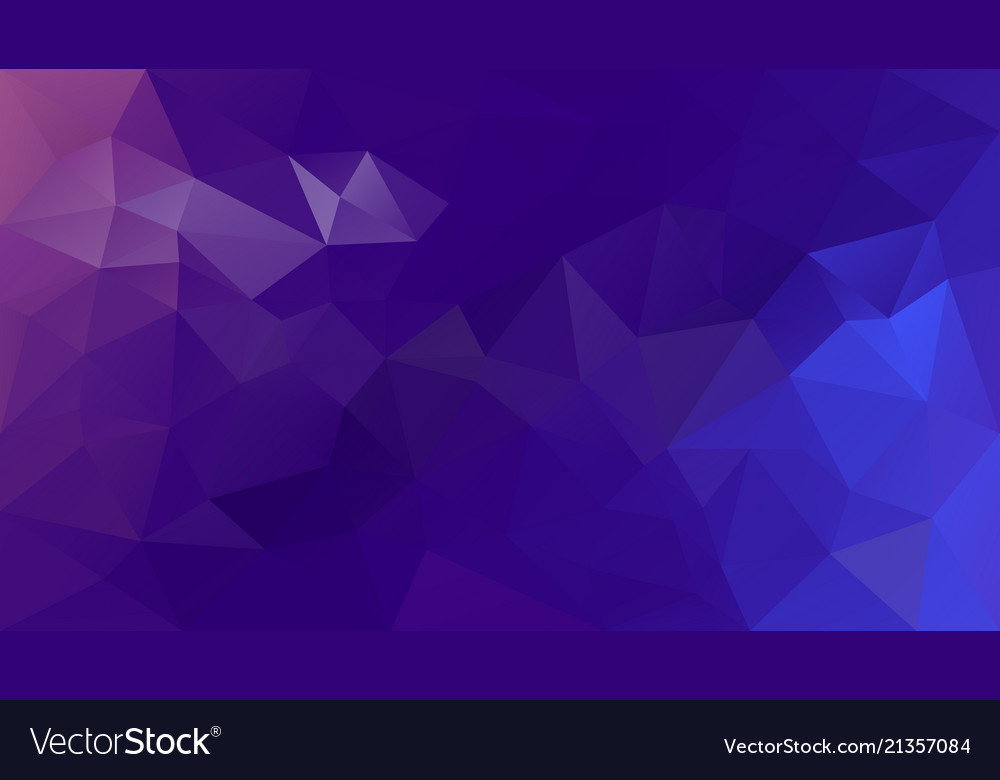 Abstract irregular polygonal background purple vector image