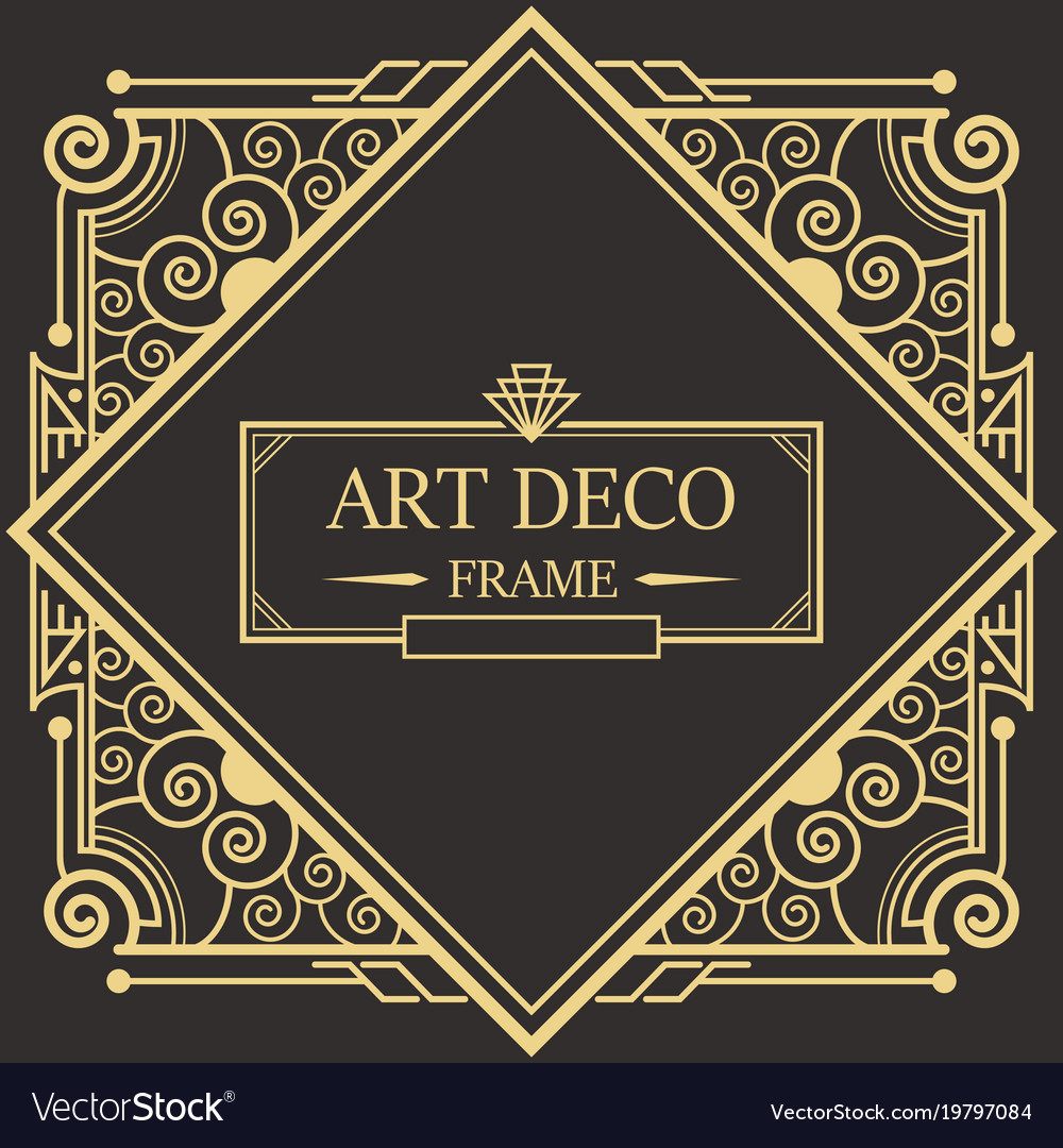 art deco border frame royalty free vector image rh vectorstock com art deco border tiles art deco borders uk