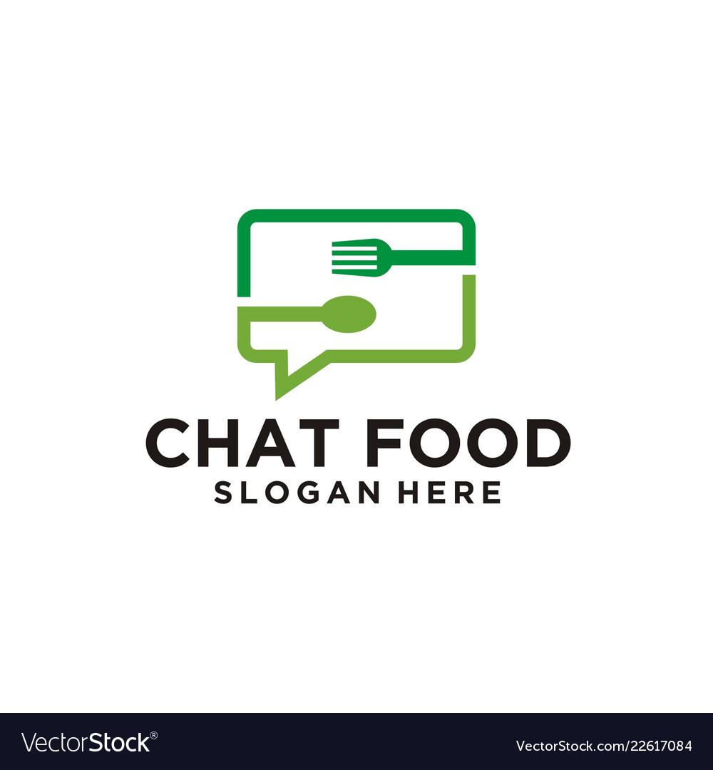 Chat talk food logo