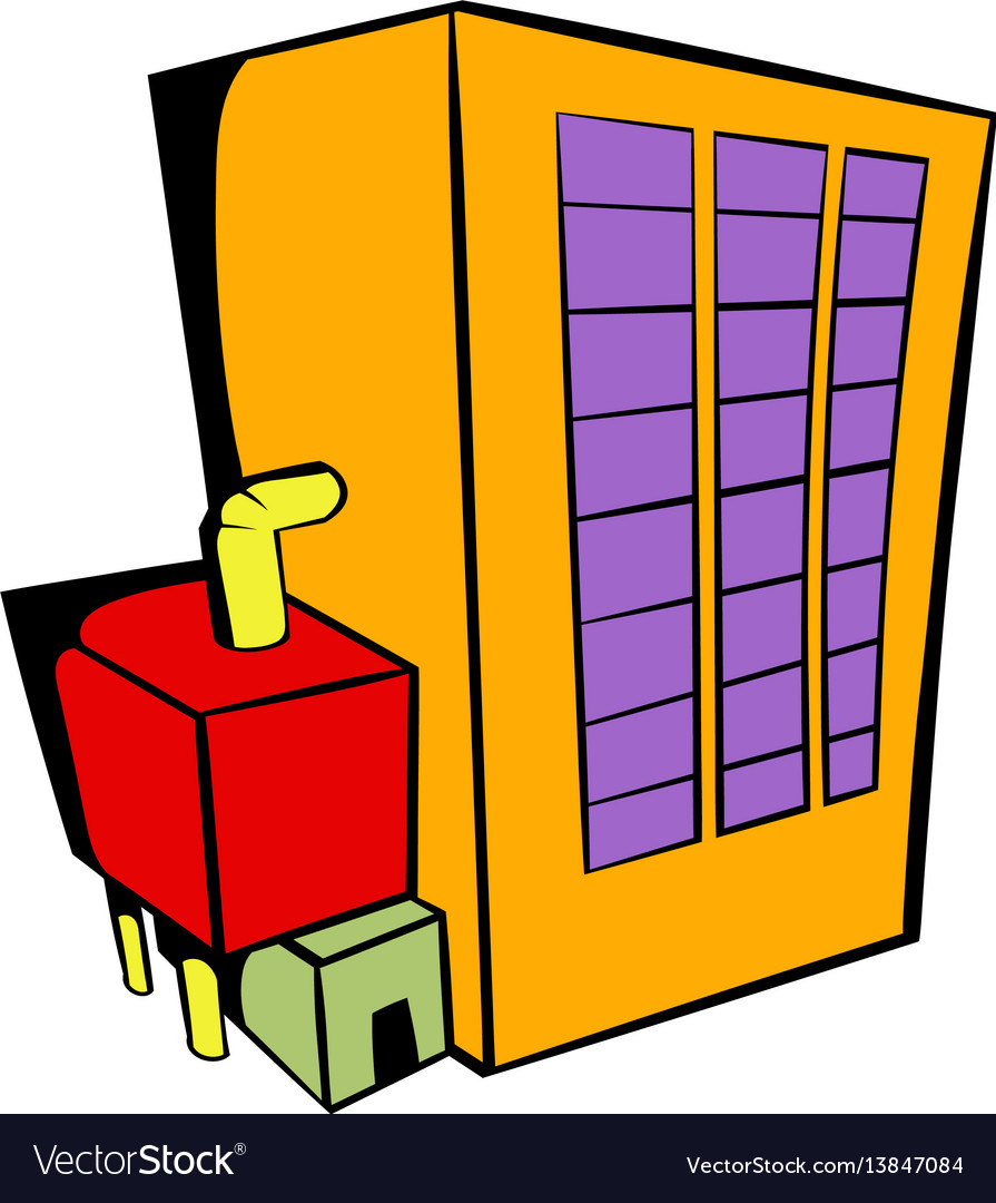 Factory building icon icon cartoon