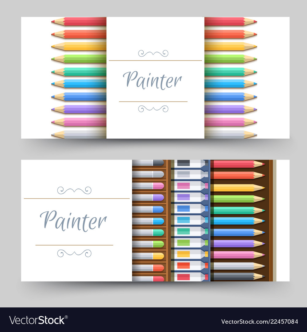 Flat art painter workshop with paint supplies