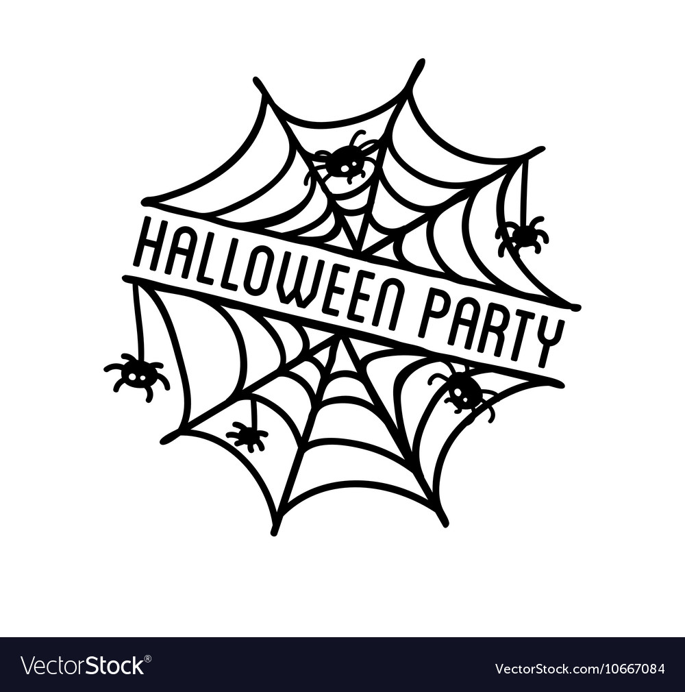 Happy Halloween design Black badge and label vector image